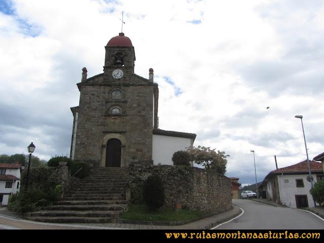 Ruta Torazo, Pico Incos: Iglesia de San Martín El Real