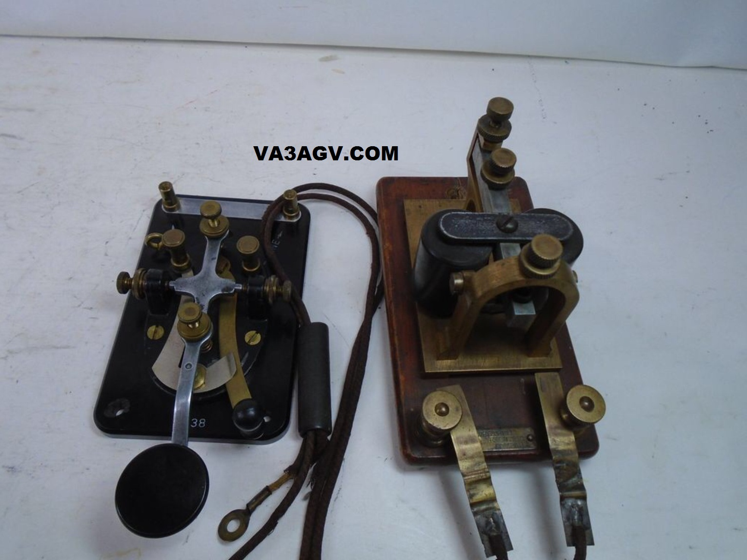 Morse Code CW Key Telegraph (Straight) : Signal Electric Mfg