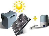Automatismo articulado italiano marca nice con panel solar