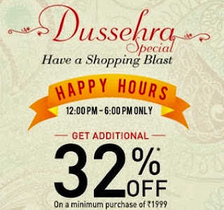Dussehra Special: Flat 32% additional off on Rs.1999 worth purchase @ Jabong (Limited Period Offer)