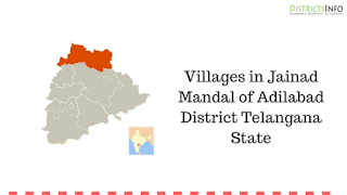 Villages in Jainad Mandal of Adilabad District Telangana State