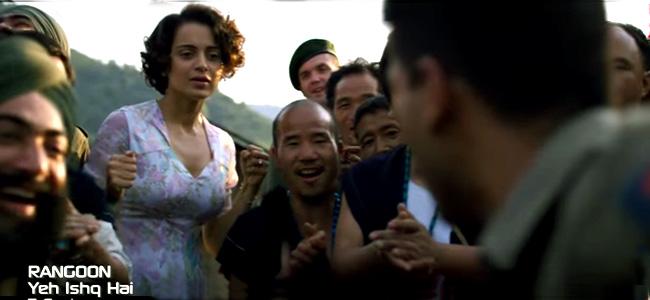 Rangoon Movie Video song Yeh Ishq Hai   Saif Ali Khan, Kangana Ranaut