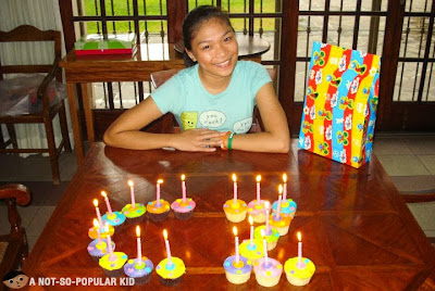 "Czarina Santos during one of her ""nene"" birthdays!"