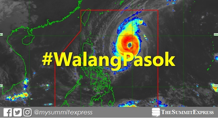 #WalangPasok: Class suspensions for Monday, October 29, 2018
