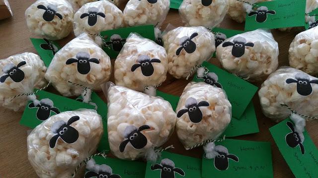 Offerfeest: Shaun het schaap popcornzakjes