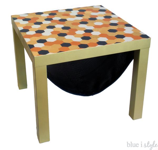 Ikea Lack Hack Hexagon Table Top Magazine Sling