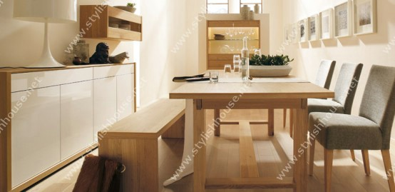Wooden style of dining table furniture set
