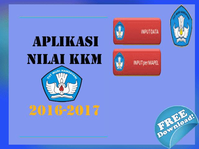 Aplikasi Nilai KKM SD KTSP Kelas 1,2,3,4,5,6 Tahun 2016