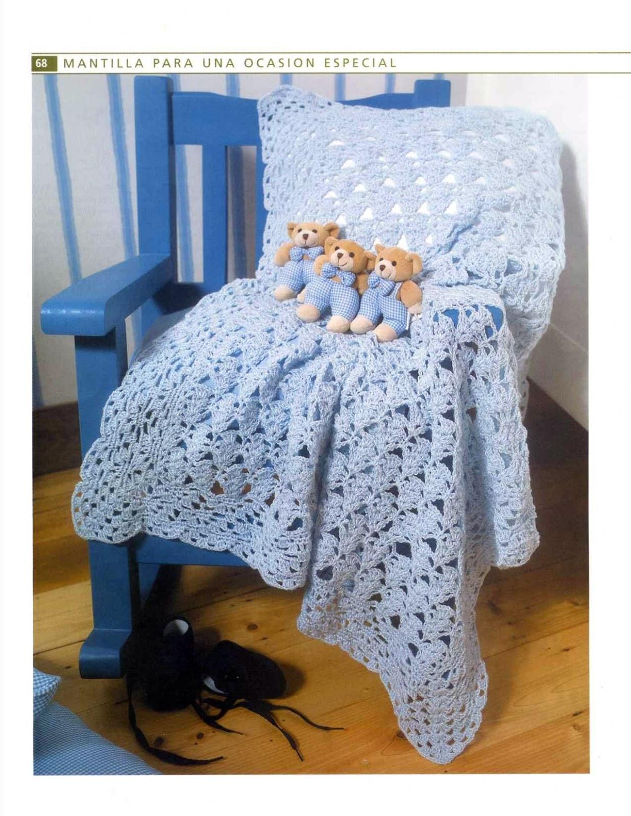❤ ✿ Mi Rincón del Tejido ✿ ❤: Hermosa y delicada manta para bebé