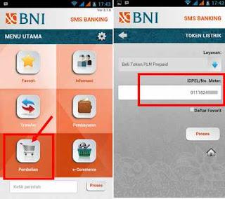 aplikasi sms banking bni beli token listrik