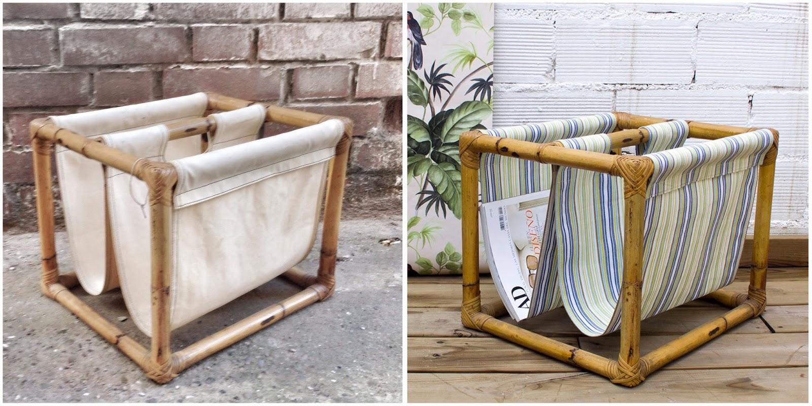 Antes y después - revistero de bambú - Studio Alis