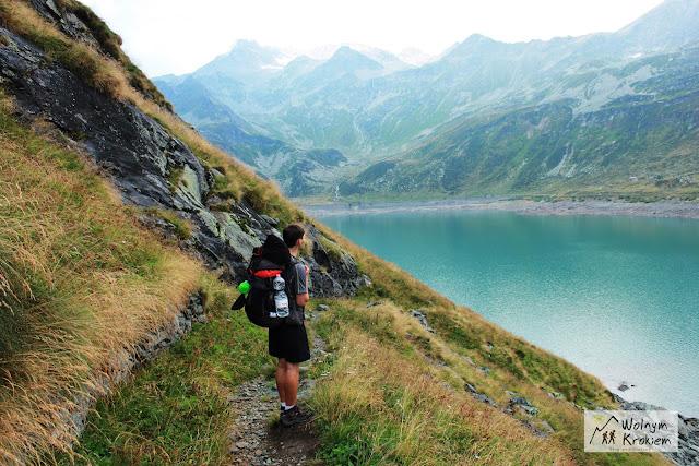 Górskie jezioro Via Spluga alpy