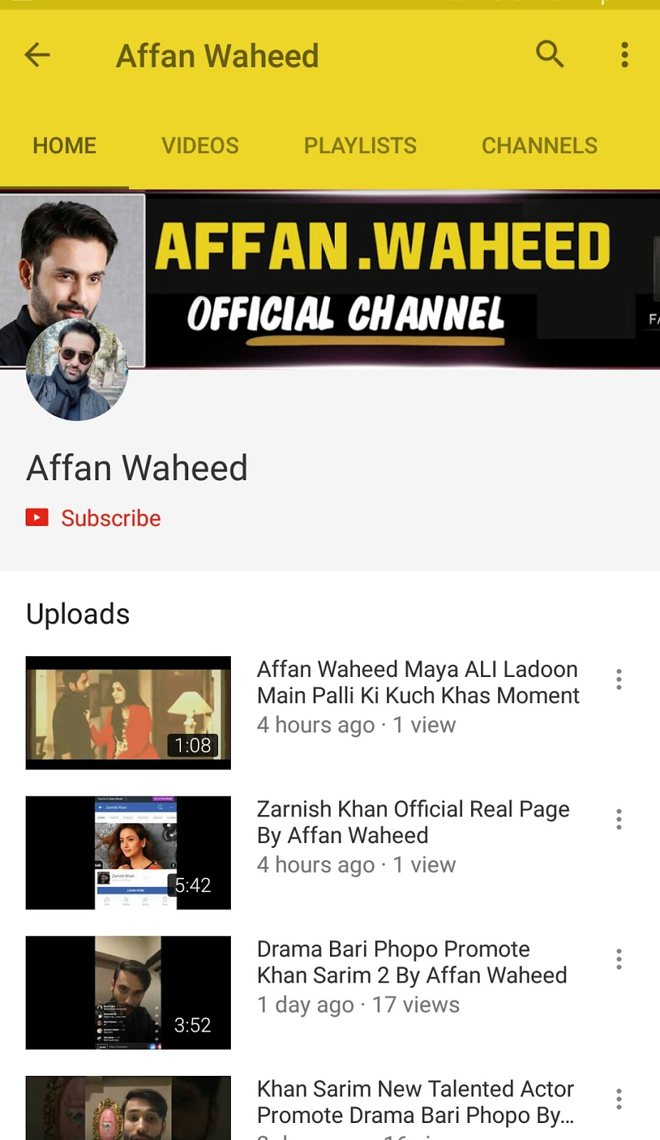 Affan Waheed Full Biography 2018 - Ww All Media News