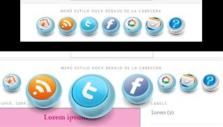 Resultado de imagen para menu estilo dock