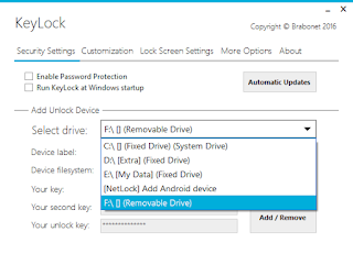 Lock and unlock your computer with a USB drive