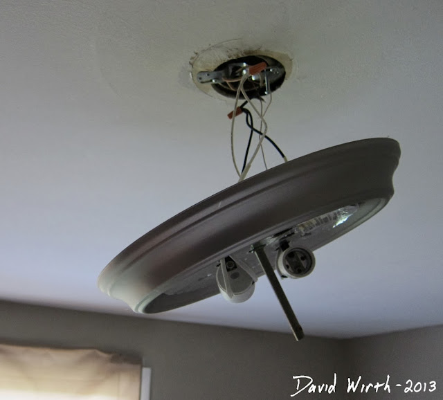 safe way to wire ceiling light, bedroom