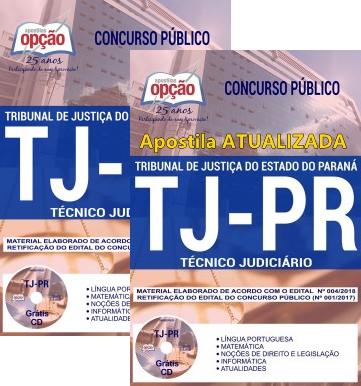 Apostila TJ-PR 2018 atualizada para Técnico Judiciário
