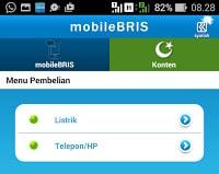 tampilan layar mobile BRIS ke 2