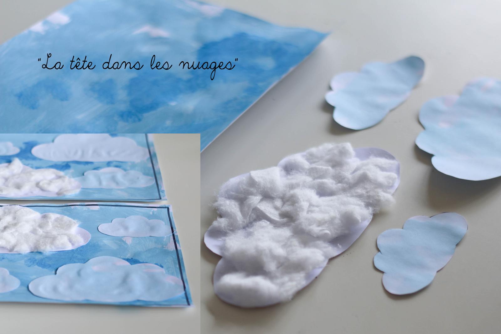 la tête dans les nuages, activité manuelle pour les petits. | lola
