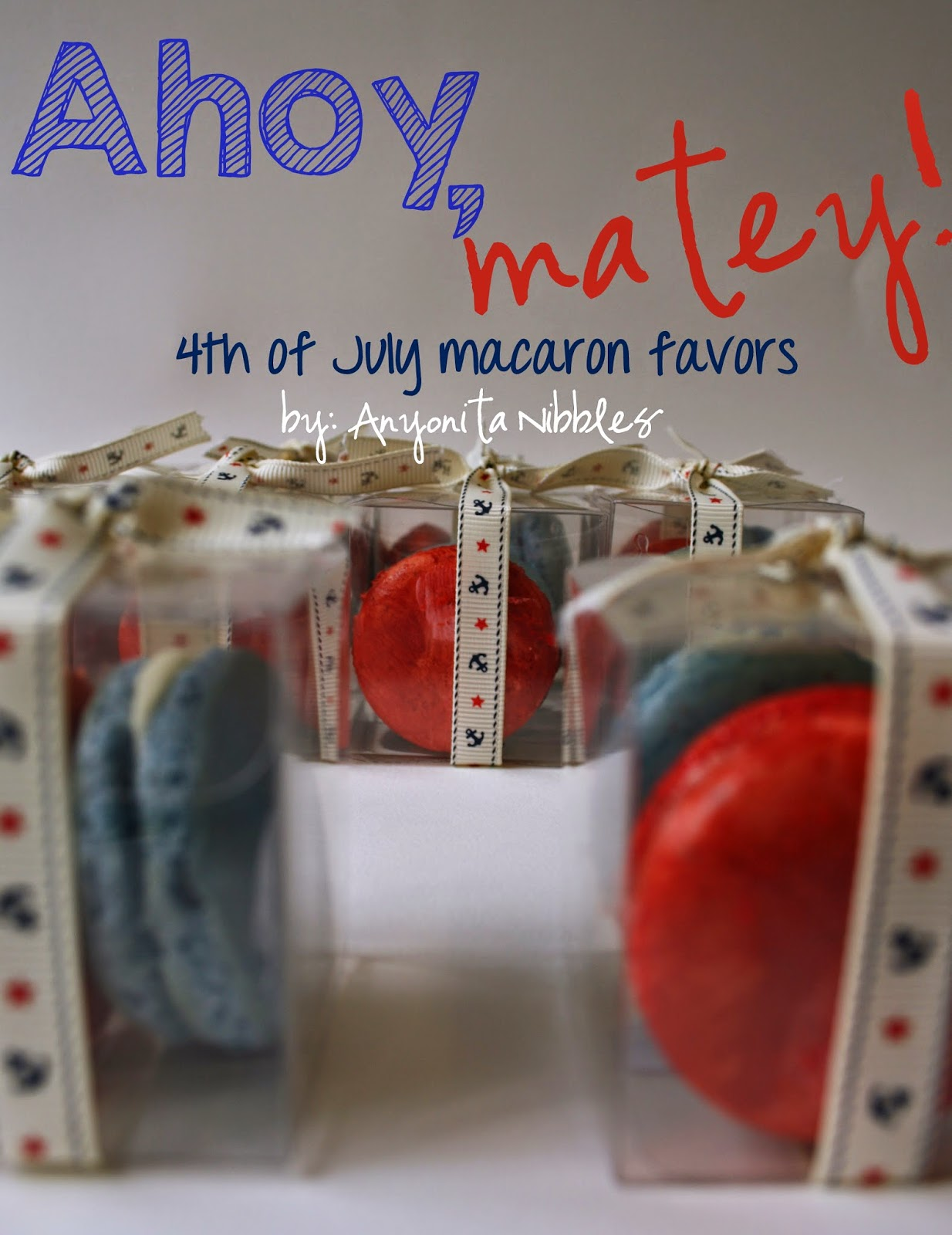 These beautiful red and blue #french #macarons would make an excellent gift for guests at your #fourthofjuly barbecue.