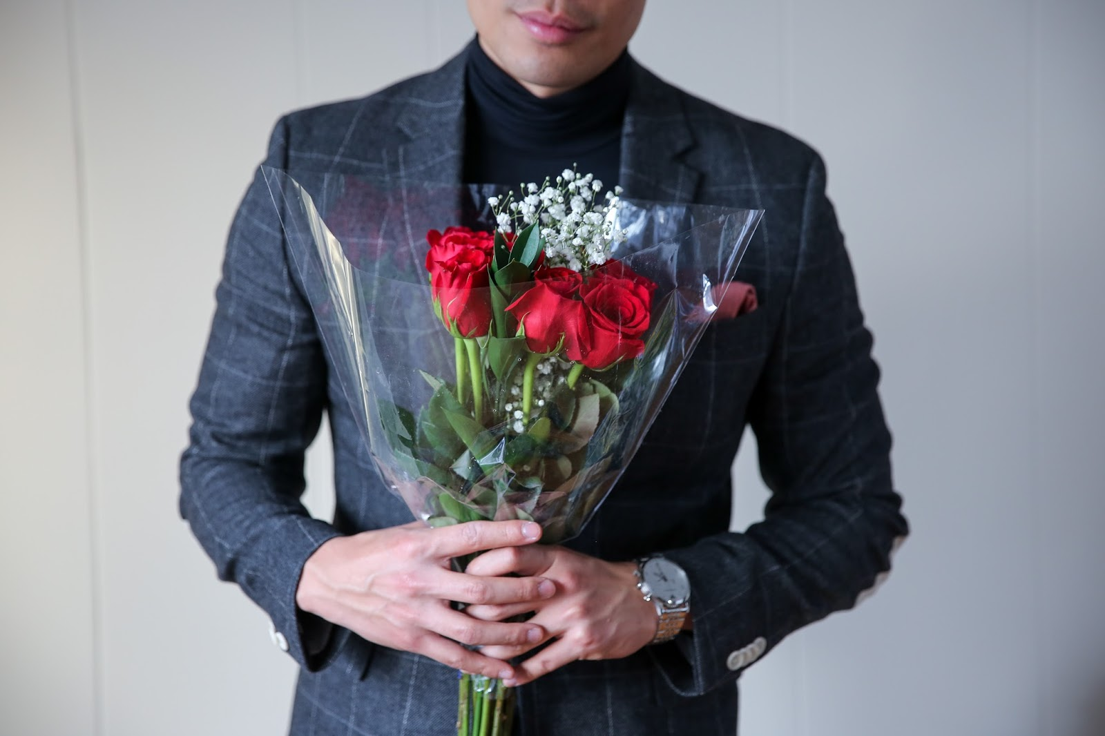 Black Turtleneck for Valentine's Day, Romantic Menswear outfit