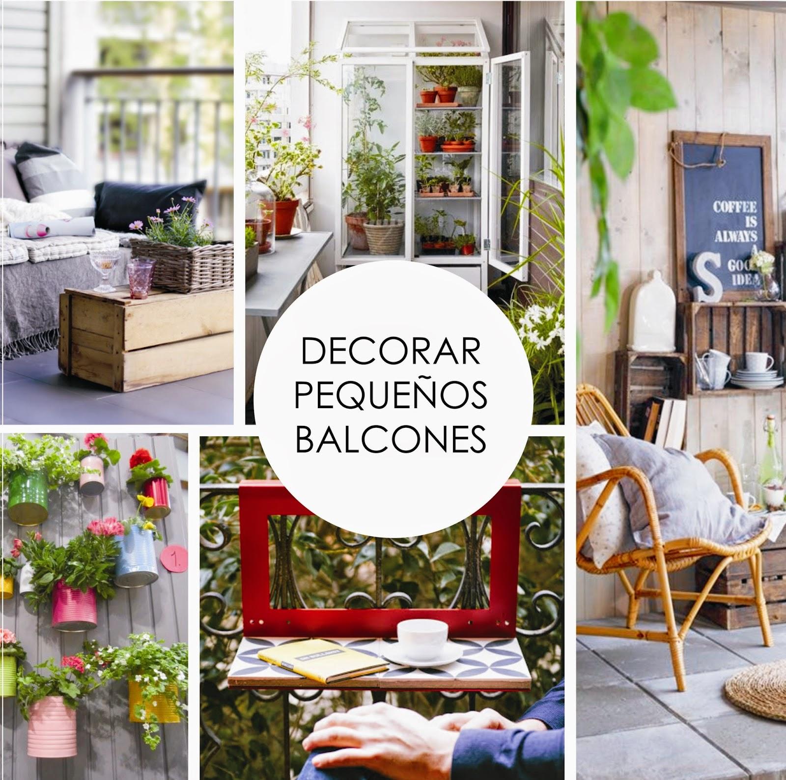Y un poco de dise o decorar y aprovechar peque os balcones - Balcones con encanto ...