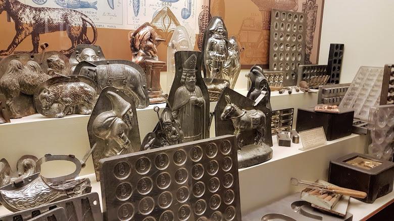 巧克力博物館展示的各式模具