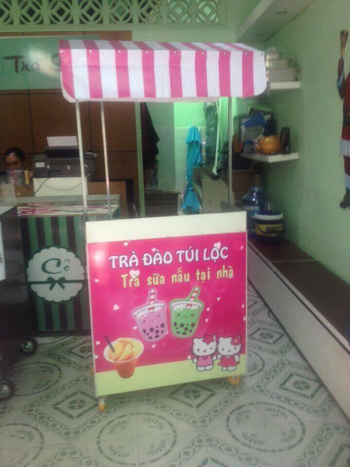 Thiết kế, thi công và bán quầy bán trà sữa vĩa hè tại TPHCM