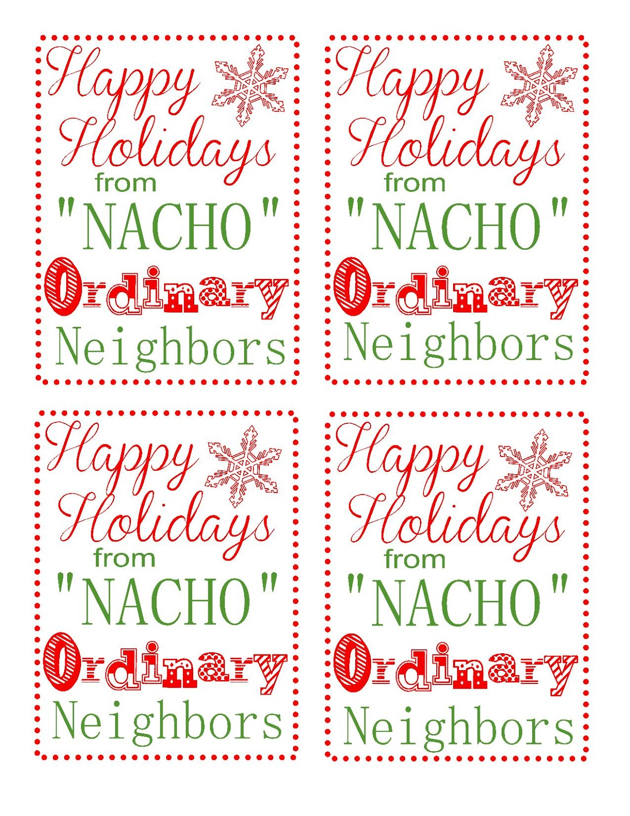 Neighbor Gift Blog Hop : Chips and Salsa + Printable Tags ...