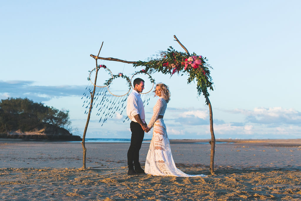 JUDY COPLEY COUTURE SUNSHINE COAST WEDDING INSPO BEACH CEREMONY