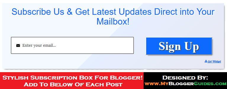 Below Post Email Subscribe Box, Subscription Box for Blogspot, Below Post Subscribe Box, Blogger Subscription Box
