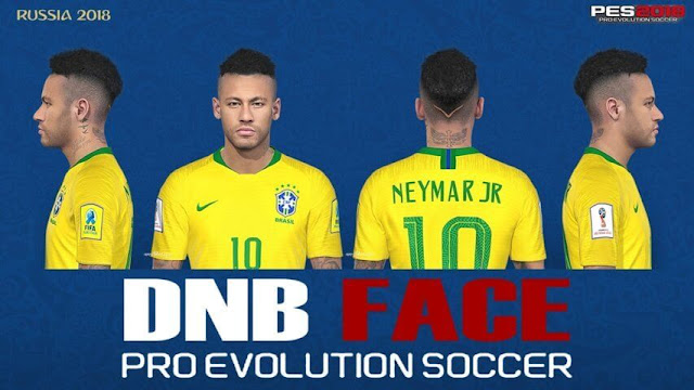 Neymar Face with New Hair PES 2018
