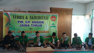 Turba dan Akreditasi PW. GP. Ansor Jatim ke PC. GP. Ansor Pamekasan