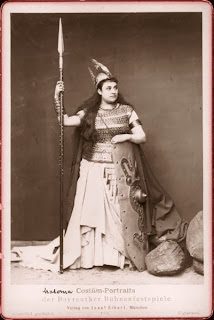 Amalie Materna as Brunhilde at Bayreuth in 1876