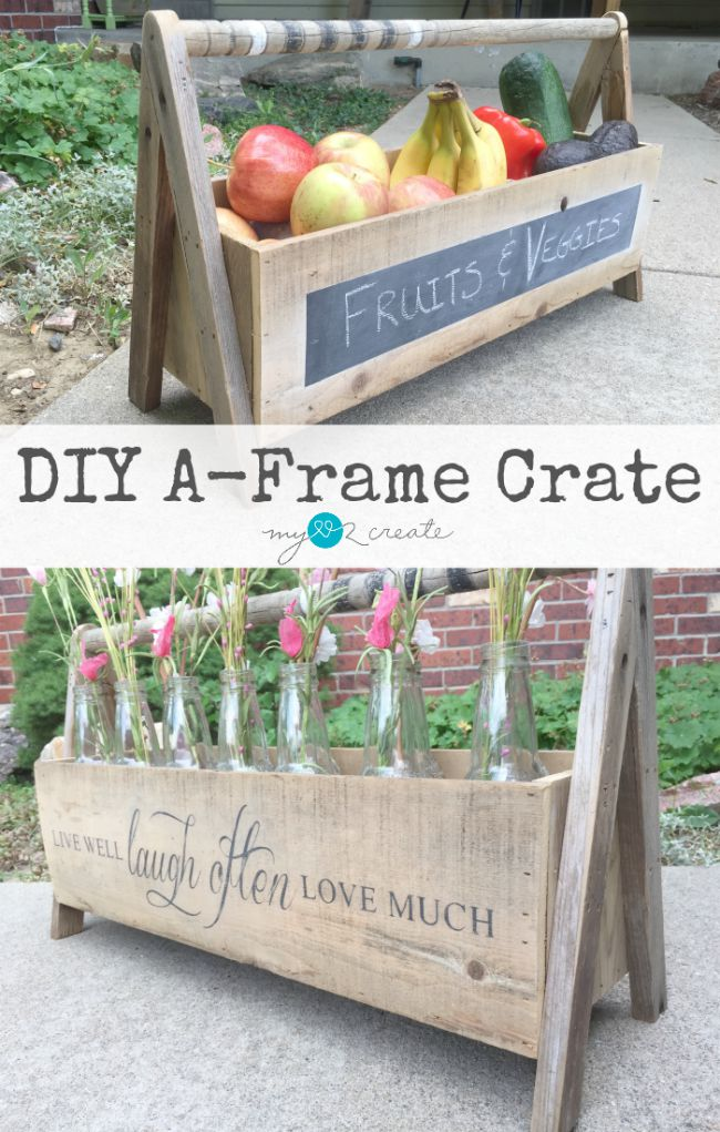 Easy and fun DIY A-Frame Crate tutorial by MyLove2Create