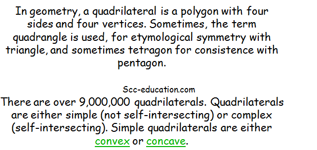 Properties of Quadrilaterals ,concave,convex,pentagon,polygon,