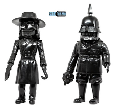 Halloween 2018 Exclusive Puppet Master Blade & Torch Black Unpainted Edition Vinyl Figures by Phantasma Collectibles