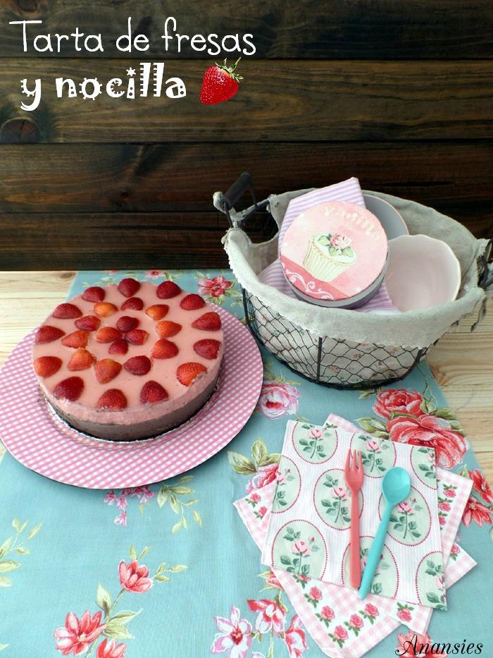 Tarta de fresas y nocilla