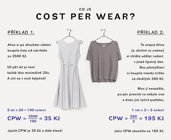 963c73a2d1b Cost per wear - cena za jedno nošení