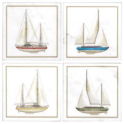 Sailboat accent tiles