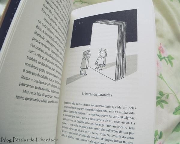 leituras-disparatadas, ilustração, Resenha, livro, A máquina de caminhar, Cristovão Tezza, record, cronicas, diagramação