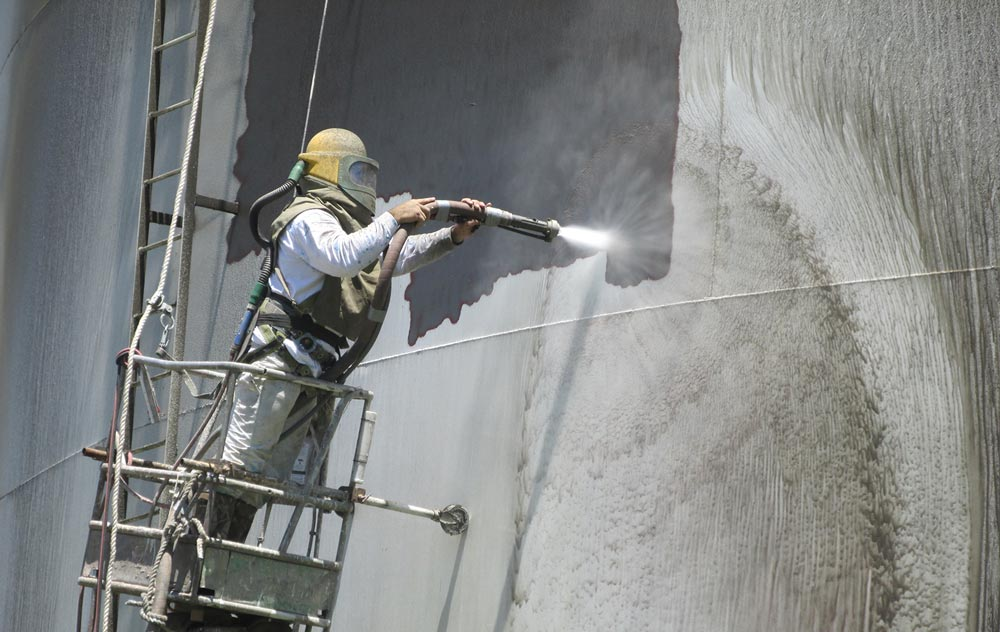 Metropolitan engineering consulting forensics expert for Sandblasting and painting