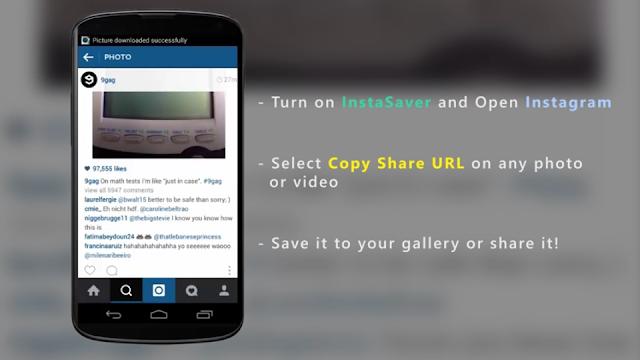 Cara menyimpan foto di instagram menggunakan instaSaver