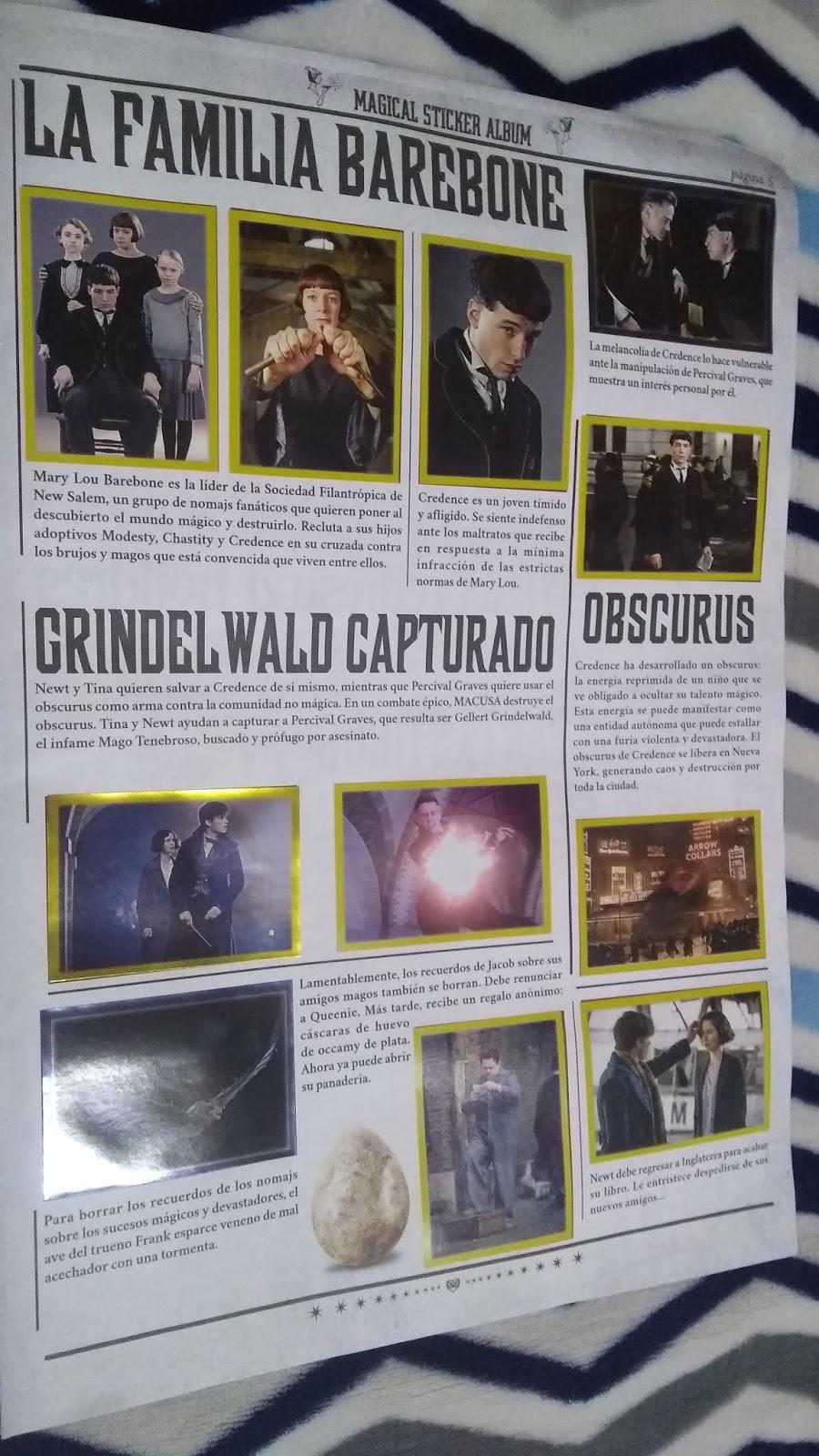 Panini fantástica criatura animal serie 2 grindelwalds crímenes sticker nº 10
