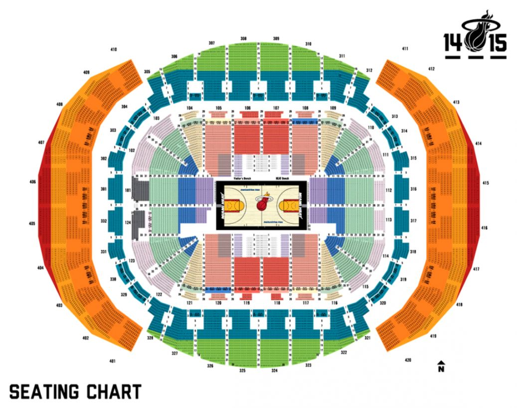 American Airlines Arena Miami Basketball Seating Chart