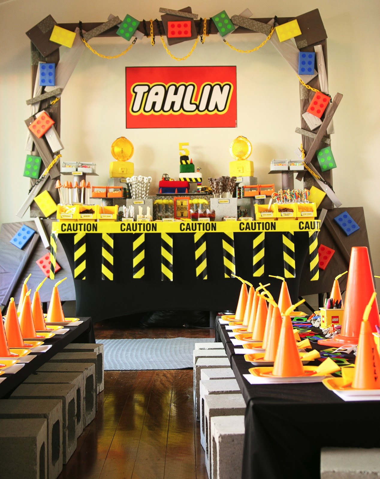 Get Your D I Y On Tahlin S 5th Lego Construction Party