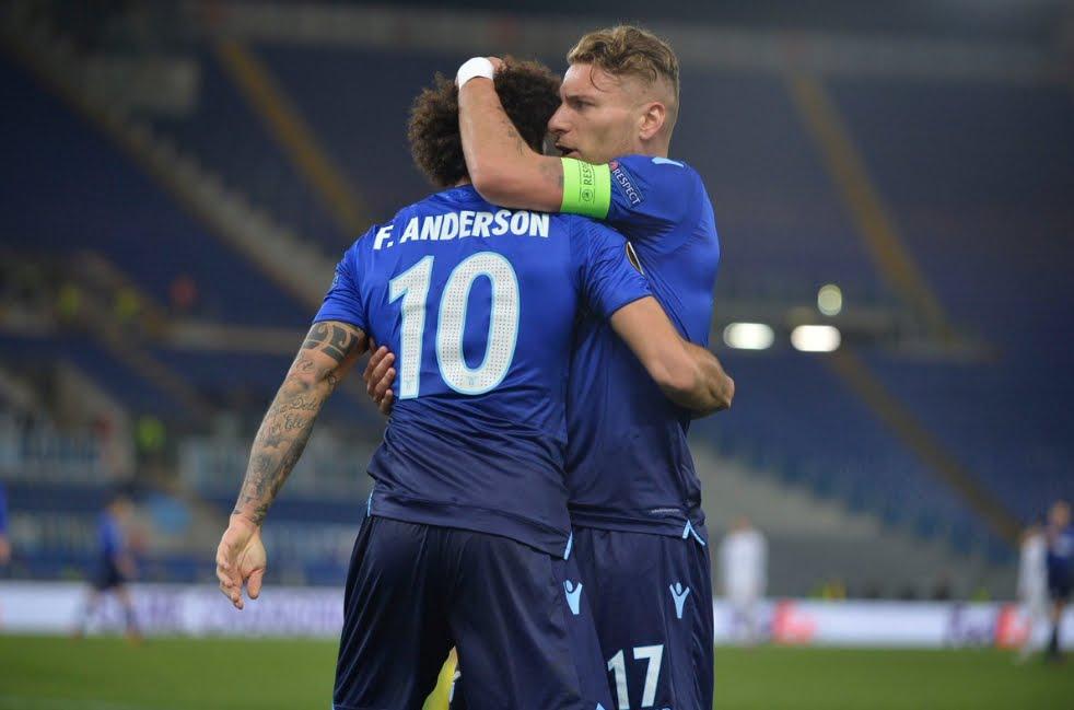 Lazio-Dinamo Kiev 2-2: Ciro Immobile (palo al 95') e Felipe Anderson lasciano aperta la qualificazione tra una settimana