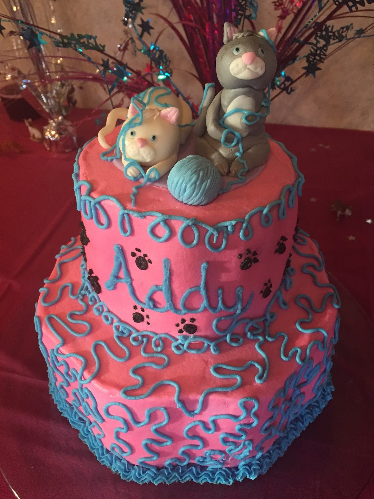 Cats Cake Creations Kittens With Yarn Birthday Cake