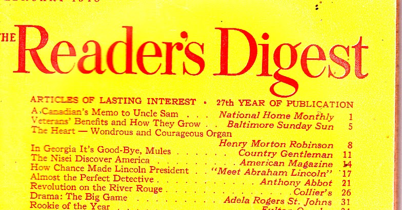 Madeline's Memories: Reader's Digest February 1948