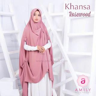 Hijab Amily Khimar Khansa Rosewood